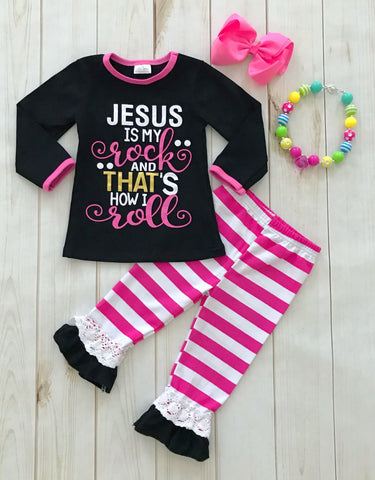 """Jesus is my Rock"" Boutique Outfit"