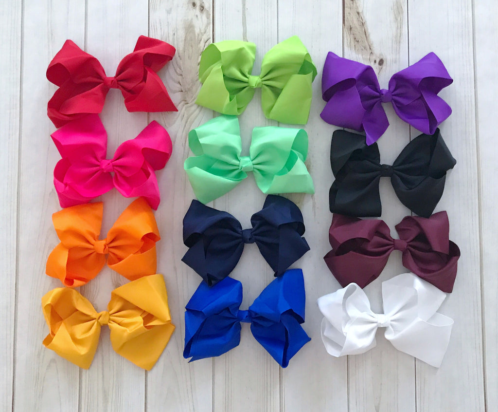 "Single JUMBO 8"" Boutique Bows"