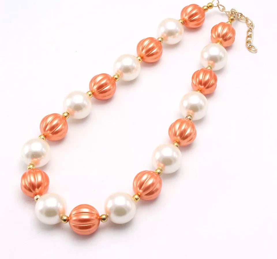 Creamy Pumpkin Chunky Necklace