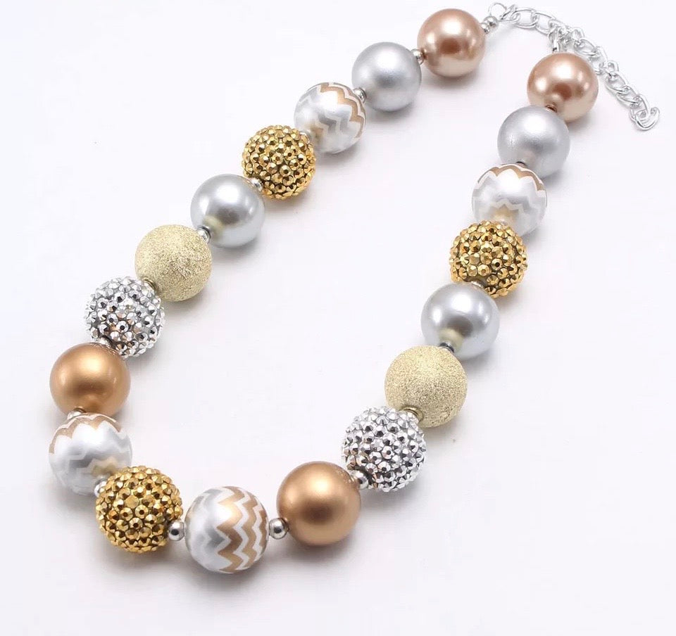 Silver/Gold Chunky Necklace