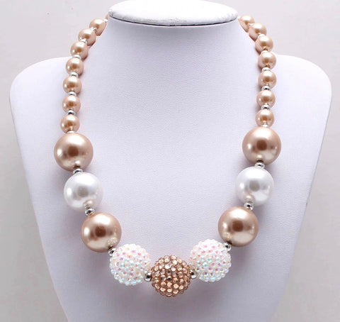 Frosted Cream Chunky Necklace