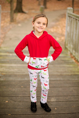 Jolly Christmas Hooded Top/Pant Set