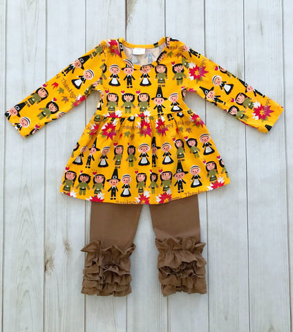 SALE! Happy Thanksgiving Pilgrim Boutique Outfit {LIMITED EDITION}