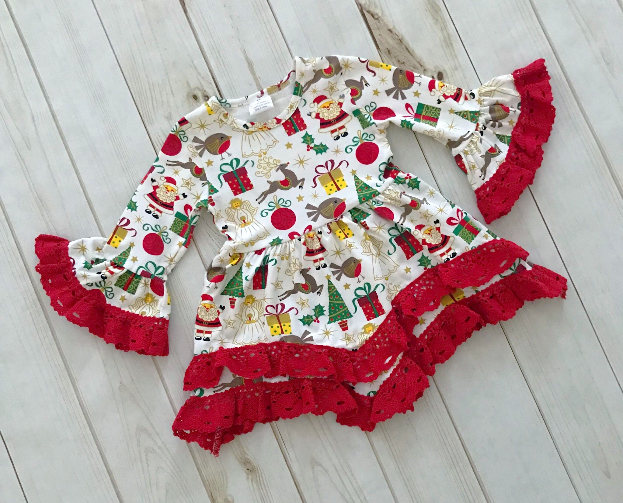 Christmas Boutique Outfit, girls boutique clothing – Rylee Faith ...