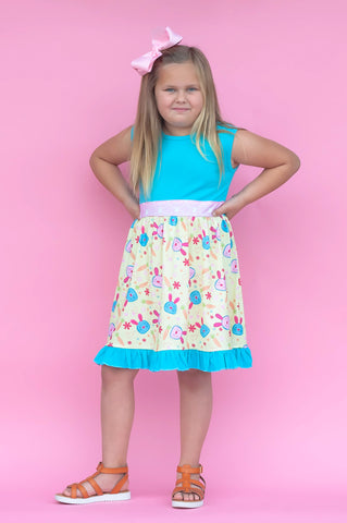 Easter Bunny Tie Back Dress