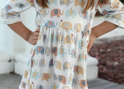 "Sweet ""Ellie"" Elephant Dress {LIMITED}"