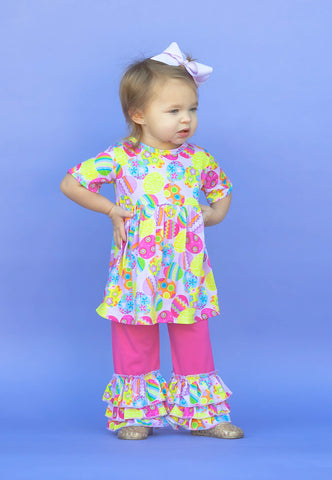 Easter Egg Ruffle Pant Set