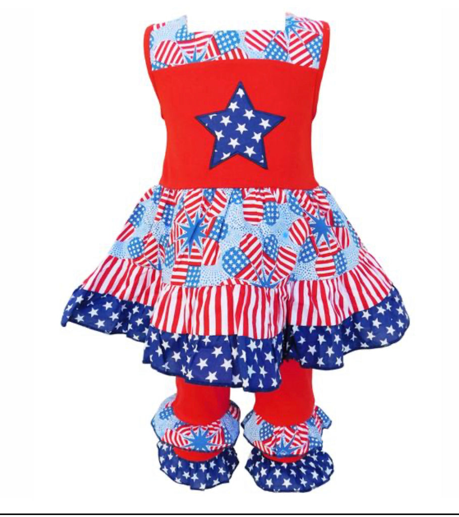 Patriotic Stars & Stripes Outfit