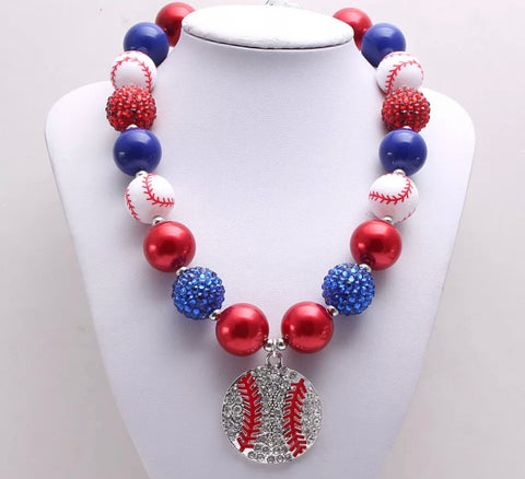 Baseball Chunky Necklace