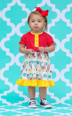 Sweet Summer Chicken Boutique Dress