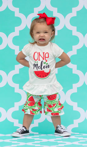 """One in a Melon"" Short Set"