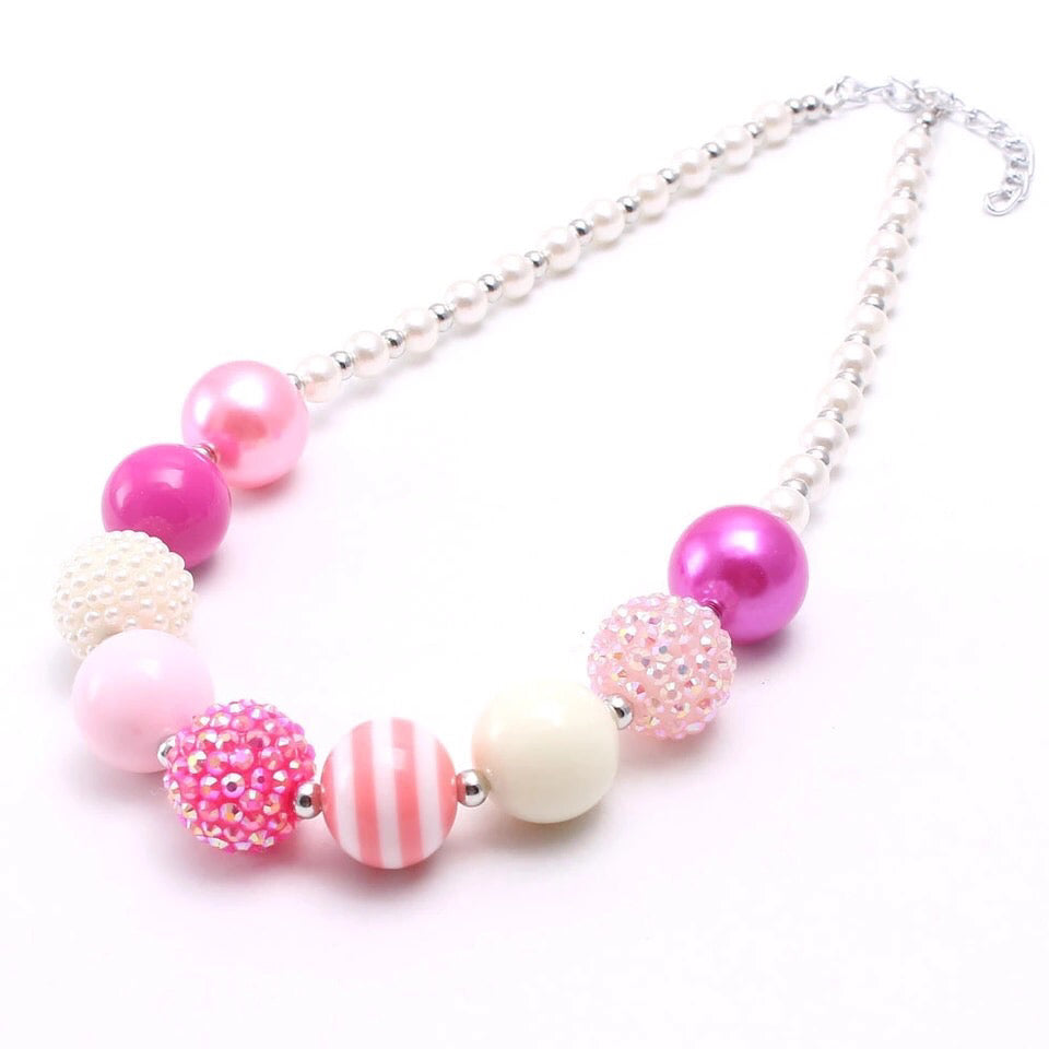 """Pinkalicious"" Chunky Necklace"