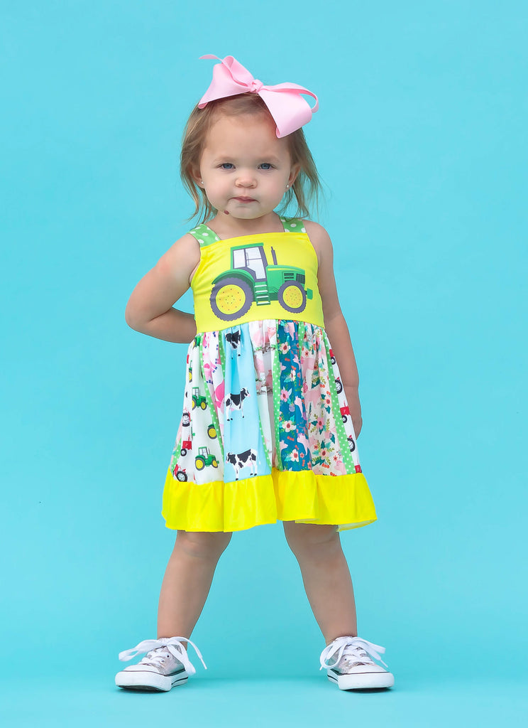 Tractor Twirl Dress