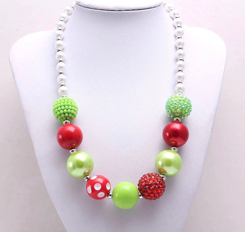 Lime/Red Christmas Chunky Necklace