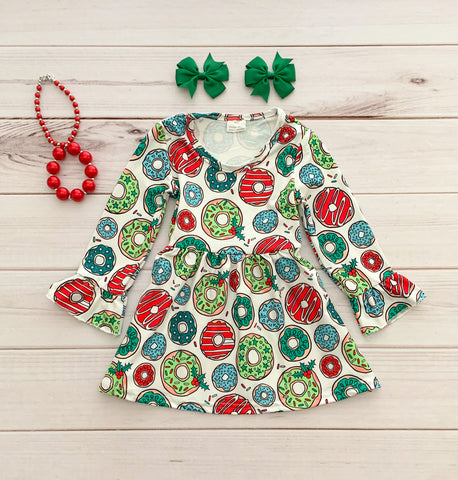 Christmas Donut Boutique Dress - TODAY ONLY!