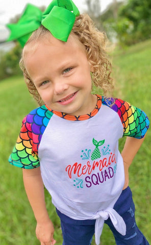Mermaid Squad Tie-Front Top