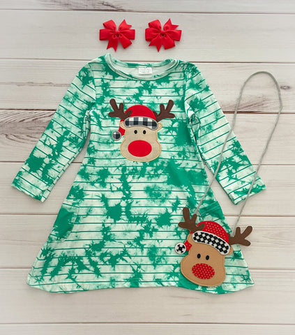 Reindeer Boutique Dress w/ Purse