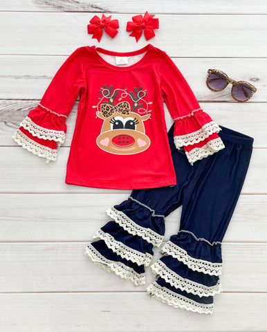 Festive Reindeer Boutique Outfit