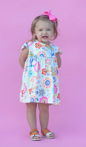 """Addison"" Floral Pearl Dress"