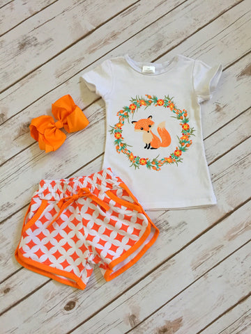Little Fox Short Set
