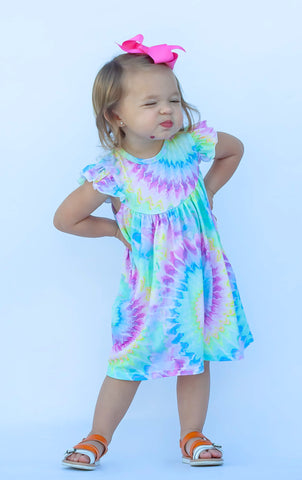 Trendy Tie-Dye Pearl Dress