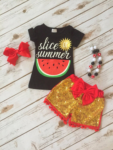 """Slice of Summer"" Boutique Short Set"