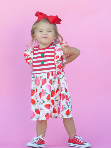 Strawberry Flutter Dress