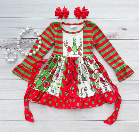 Grinchmas Panel Dress