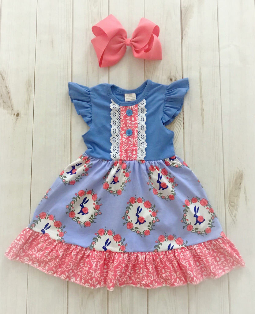 Bunnies & Roses Easter Dress {LIMITED}