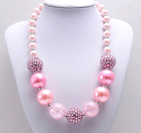 Bubblegum Pearls Chunky Necklace