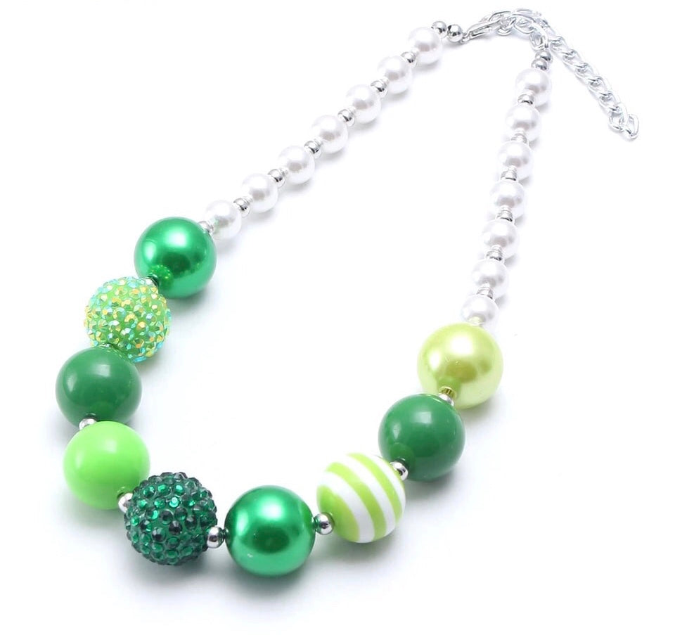 Simply Shamrock Sparkle Chunky Necklace