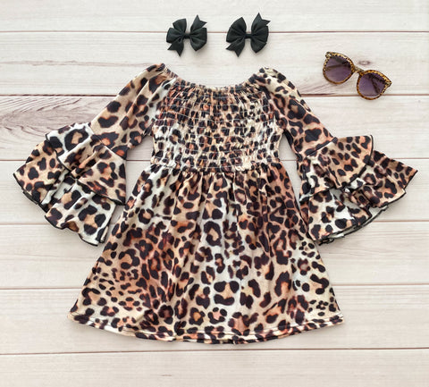 Cinch Leopard Ruffle Boutique Dress