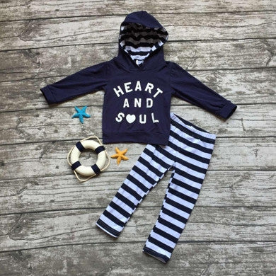 """Heart and Soul"" Hooded Top/Pants Set"