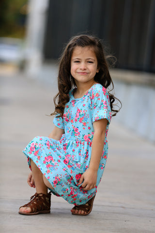 """Ainsley"" Floral Twirl Dress {LIMITED}"