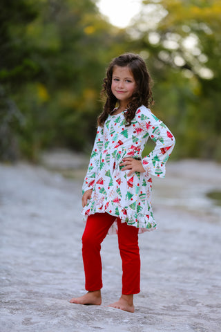 Christmas Tree Tunic/Legging Set