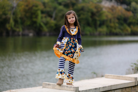 Sunflower Ruffle Boutique Outfit {Limited}