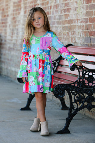 Fun & Festive Snowman Boutique Dress