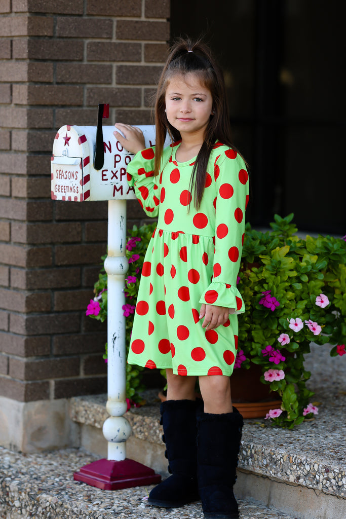 Simply Christmas Polka Dot Boutique Dress