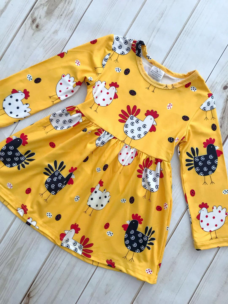 """In The Coop"" Dolly Chicken Dress"