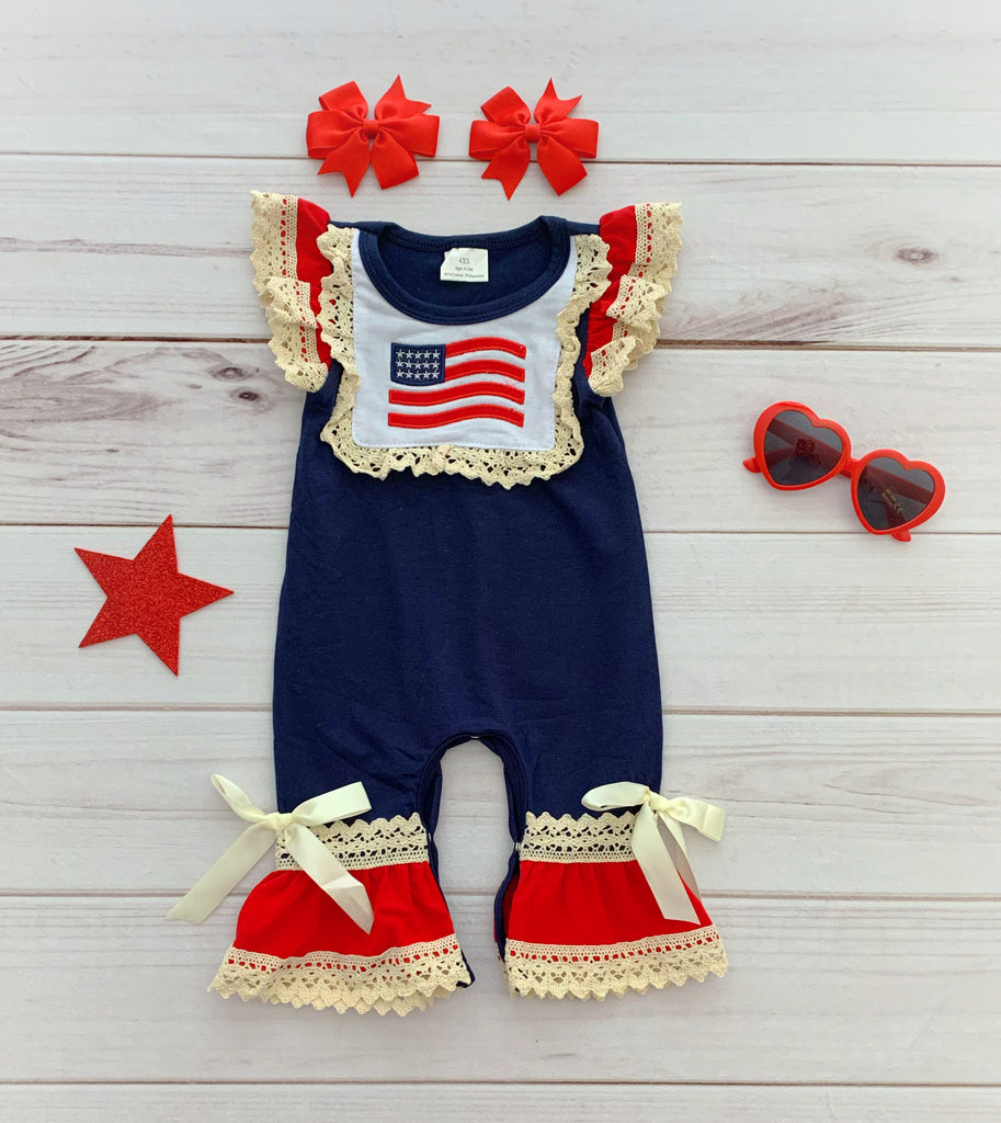 "The ""Stars & Stripes"" Romper"