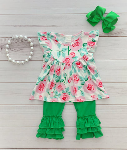 """Lucy Grace"" Floral Boutique Outfit"