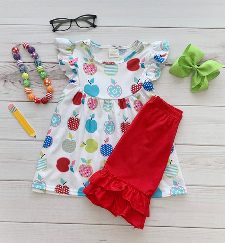 Back to School Apple Short Set {Limited Edition}