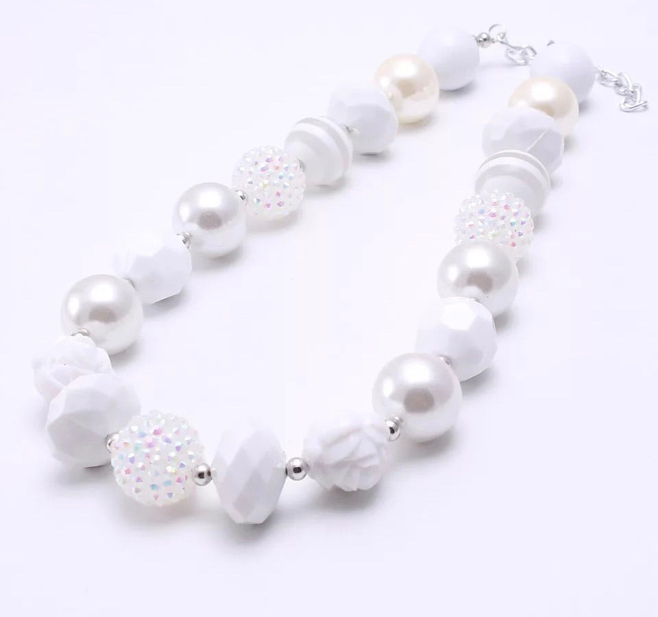 All White Chunky Necklace