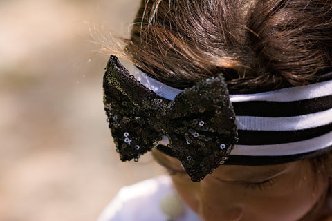 "Hot! Trendy Bow Headband-""Trendy Tot"""