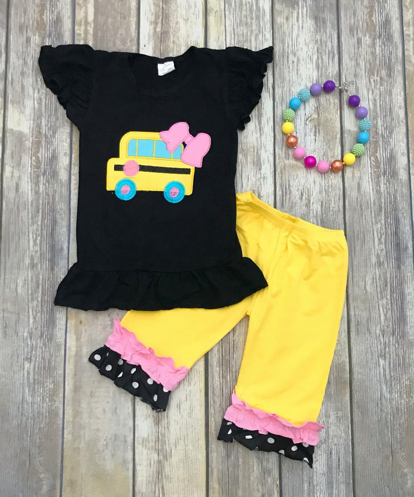 School Bus Back to School Outfit a4af1509b8