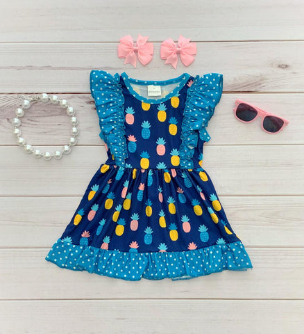 Pineapple Flutter Dress