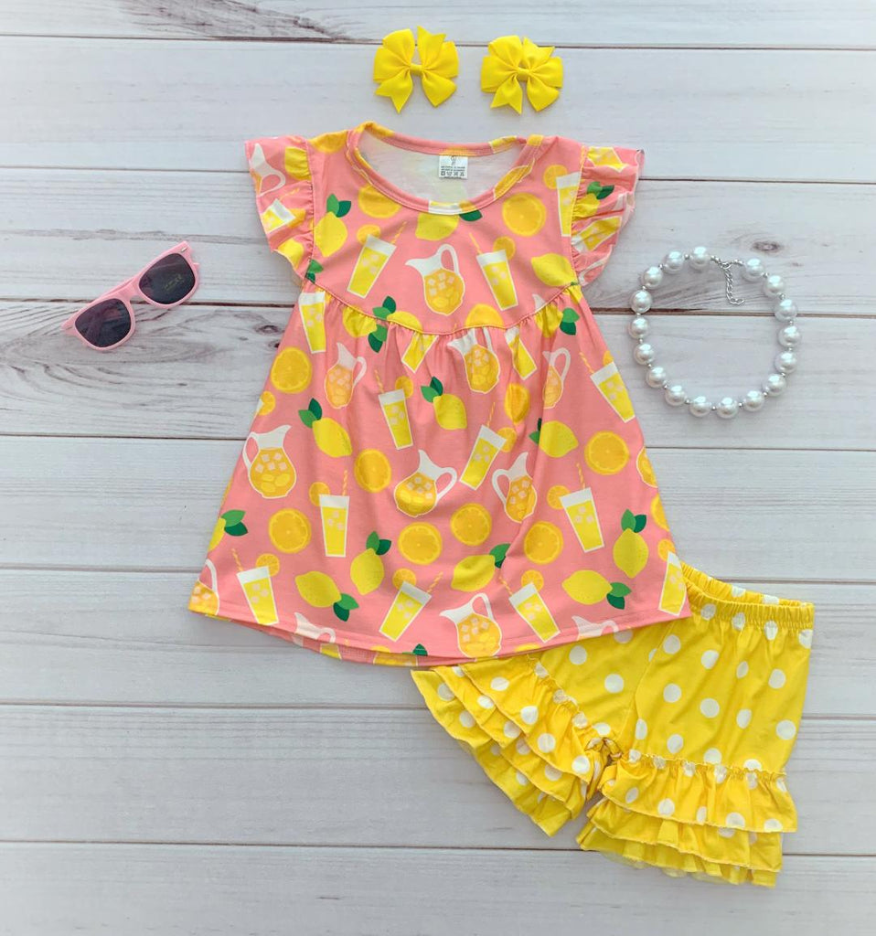 Pink Lemonade Boutique Short Set