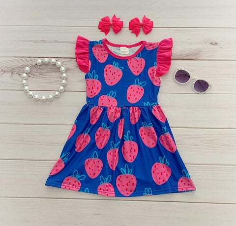 Strawberry Smoothie Boutique Dress