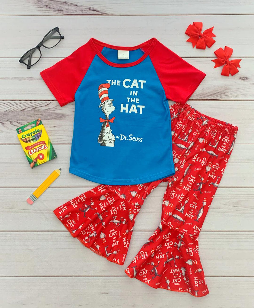 The Cat in the Hat Dr. Seuss Bell Bottom Set