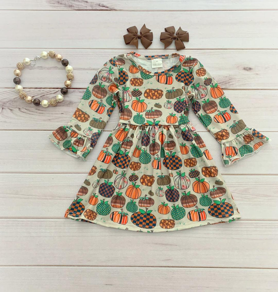 Pumpkin Patchwork Boutique Dress